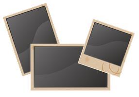 oude lege foto vector illustratie