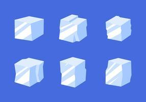 Platte ijsblokje Clipart Vector