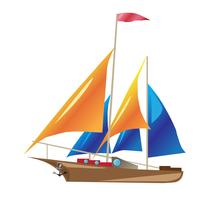 schip met zeilen