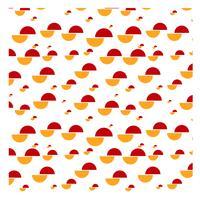 Cirkel gesneden patroon ontwerp vector