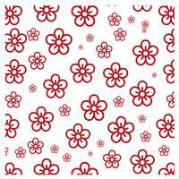 Ontwerp met rode bloemenpatronen vector