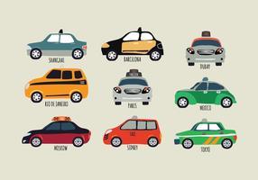 Taxi of bedrijfsvoertuig vector