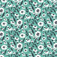 Vector blauw naadloos bloemenpatroon