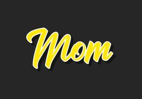 Moeder typografie