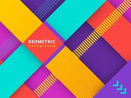 Trendy abstracte geometrische achtergrond vector