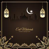 Abstract Eid Mubarak Islamitisch ontwerp als achtergrond