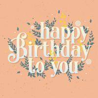 Gefeliciteerd met je verjaardag Vector ontwerp