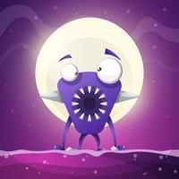 Angst, horror, hel cartoon afbeelding. Monster dieren Vector