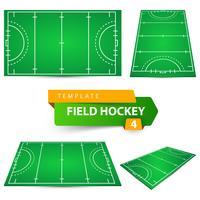 Field hockey - vier items sjabloon. vector