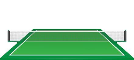 net en tabel voor tennis ping pong vectorillustratie
