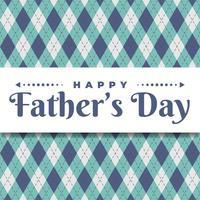 Happy Father's Day wenskaartsjabloon vector