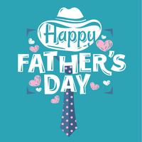 Hand belettering gelukkige Fathers Day