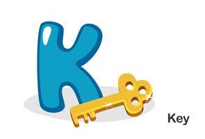 K voor sleutel vector