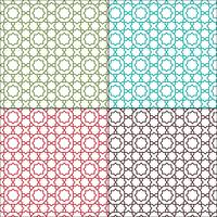 sierlijke Marokkaanse omtrek naadloze tegelpatronen vector