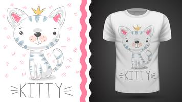Mooi kittty idee voor print t-shirt