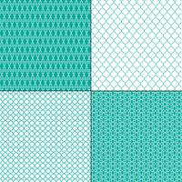 turkooisblauwe Marokkaanse geometrische patronen vector