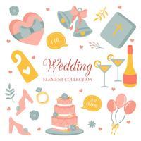 Hand getrokken doodle liefde bruiloft Element Icon Set vector