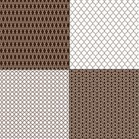 bruine Marokkaanse geometrische patronen vector