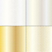 zilveren en gouden Marokkaanse golvende geometrische patronen vector