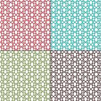 Marokkaanse rooster schets patronen vector