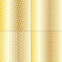 witte en metallic gouden Marokkaanse patronen vector