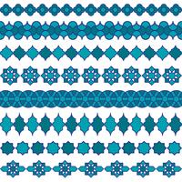 blauwe marokkaanse randpatronen