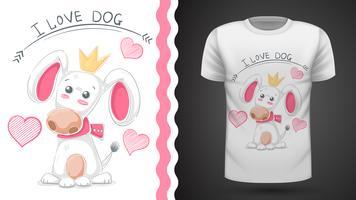 Leuke hond, puppy - idee print t-shirt vector
