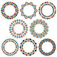 sierlijke frames in cirkelvorm van de Marokkaanse stijl vector