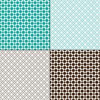 turkooisblauwe en bruine Marokkaanse geometrische patronen vector
