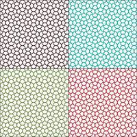 naadloze Marokkaanse golvende geometrische patronen vector