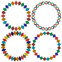 cirkelvormige Marokkaanse tegelframes vector