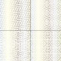 witte en metallic zilveren Marokkaanse patronen vector