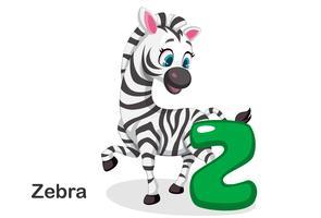 Z voor zebra vector