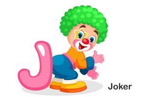 J voor joker vector