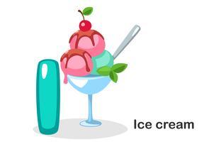 Ik voor ijs vector