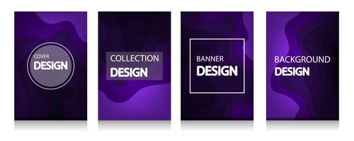 Moderne abstracte dekking van A4 abstract kleuren 3d document art vector