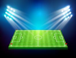 Voetbalveld met stadion 003