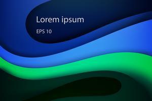 Moderne abstracte dekking, kleurrijke golf en vloeibare vormen blauwe achtergrond vector