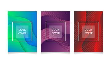 Moderne abstracte boekomslagen van A4 abstract kleuren 3d document art vector