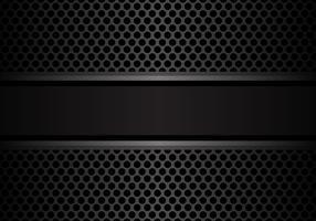 Donkergrijze banner op van de het ontwerpluxe van het cirkelnetwerk moderne moderne vectorillustratie.