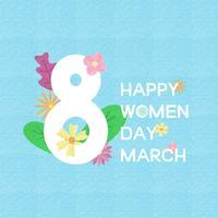 Creatieve vrouwen dag wenskaart, banner, poster.