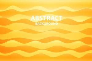 zacht en donkeroranje met gele abstracte golfachtergrond, vector