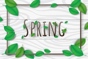 Creatieve decoratieve illustratie lente seizoen achtergrond.