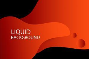 rode en oranje vloeibare golfachtergrond, vector en illustratie