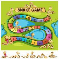 Bordspel sjabloon met slangen kruipen