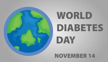Posterontwerp voor werelddiabetesdag