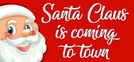 De kerstman komt naar de stad