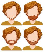 Man karakter met verschillende baard