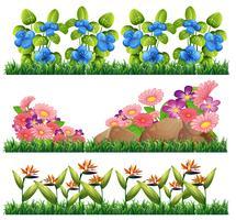 Set van bloem decoratie