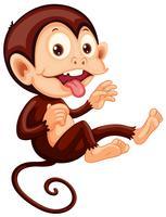 Een speels apenkarakter